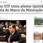 Entidades vão ao STF para destituir relator do Código de Mineração (2014)