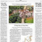Tragédia em Brumadinho é manchete do NYT, que alerta sobre riscos de rompimentos
