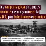 Nota Global – O setor global da mineração aproveitando a pandemia da COVID-19: tendências, impactos e respostas