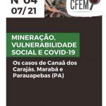 Nota Técnica 4: Mineração, vulnerabilidade social e covid-19